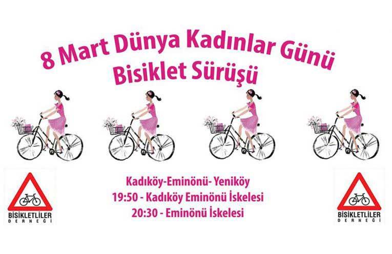 8 Mart Dünya Kadınlar Günü Sürüşü