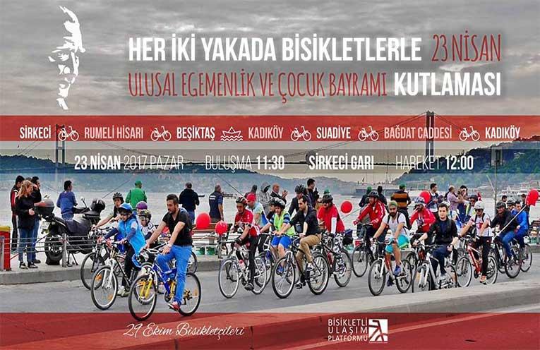 Her İki Yakada Bisikletlerle 23 Nisan Kutlaması | 23 Nisan