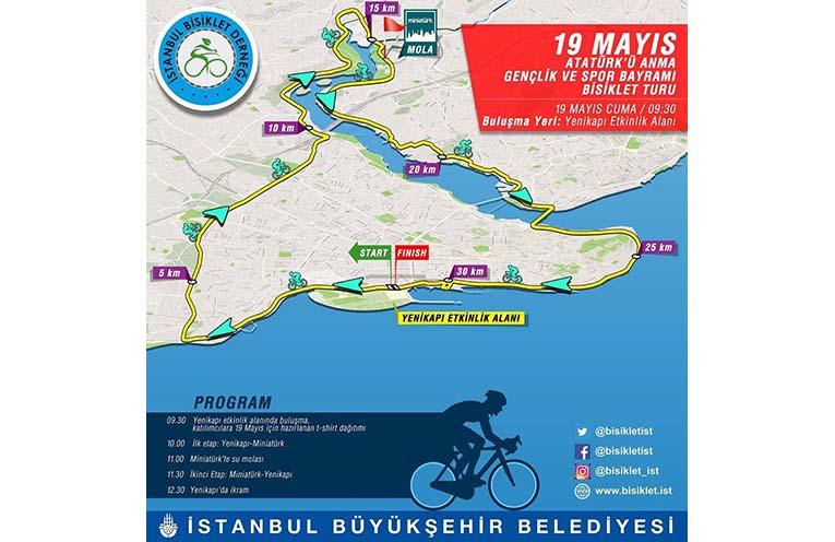 Atatürk'ü Anma Gençlik ve Spor Bayramı Bisiklet Turu