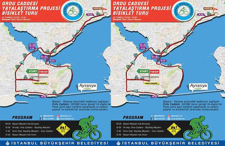 Ordu Caddesi Yayalaştırma Projesi Bisiklet Turu | 30 Temmuz