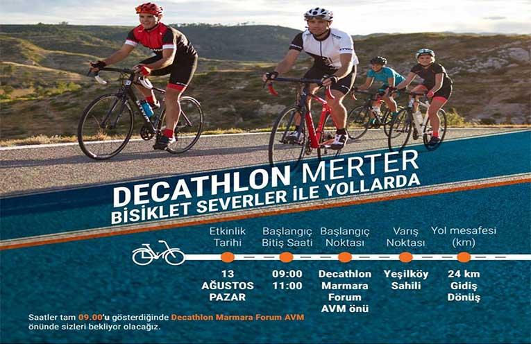 Decathlon Merter Bisiklet Turu Etkinliği | 13 Ağustos