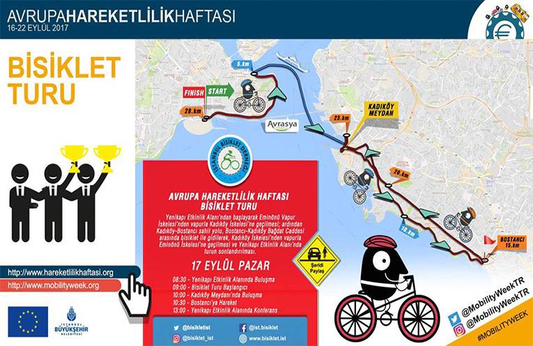 Avrupa Hareketlilik Haftası Bisiklet Turu | 17 Eylül