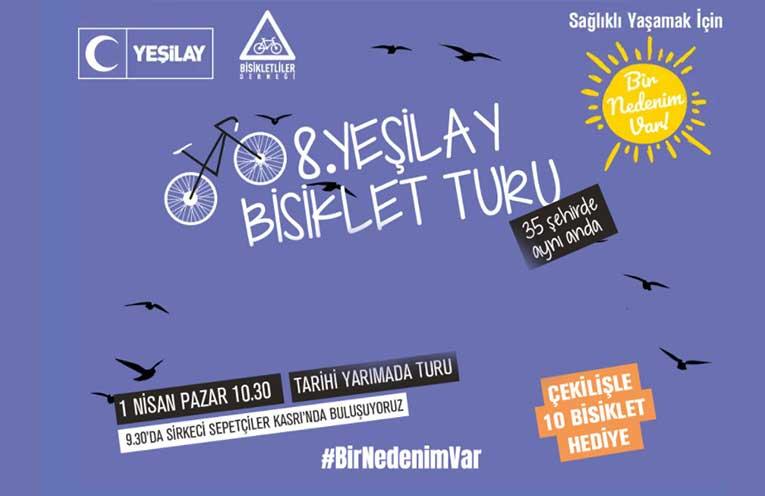 Geleneksel Yeşilay Bisiklet Gezisi Istanbul | 1 Nisan