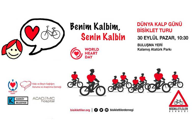 Dünya Kalp Günü İstanbul Bisiklet Etkinliği | 30 Ekim 2018